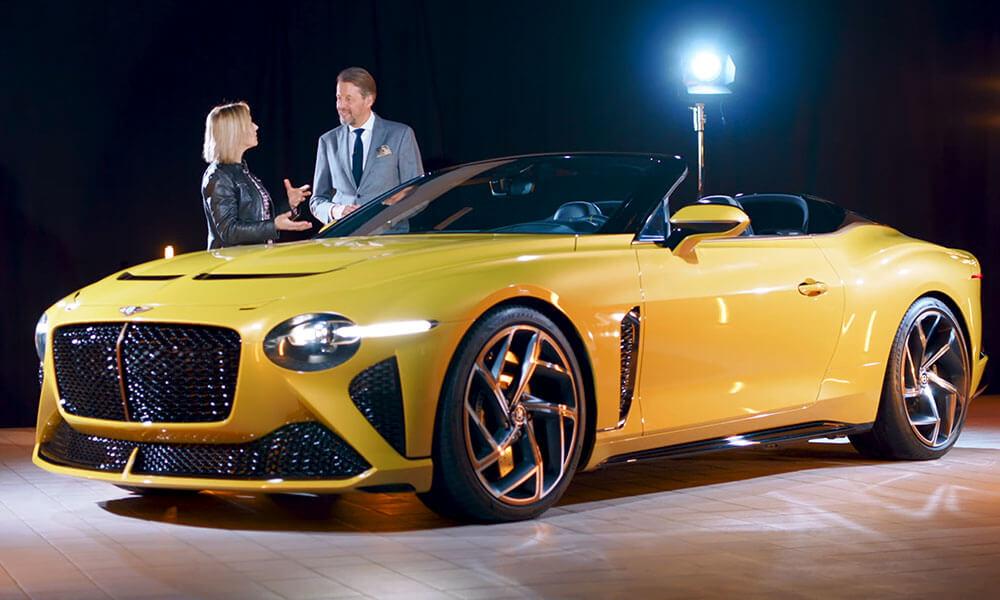 Bentley Motors Design Director Stefan Sielaff introduces the new Bentley Mulliner Bacalar
