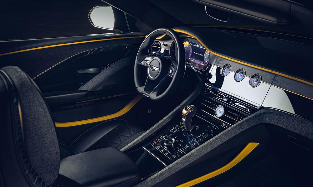 Bentley Mulliner Bacalar dashboard and interior