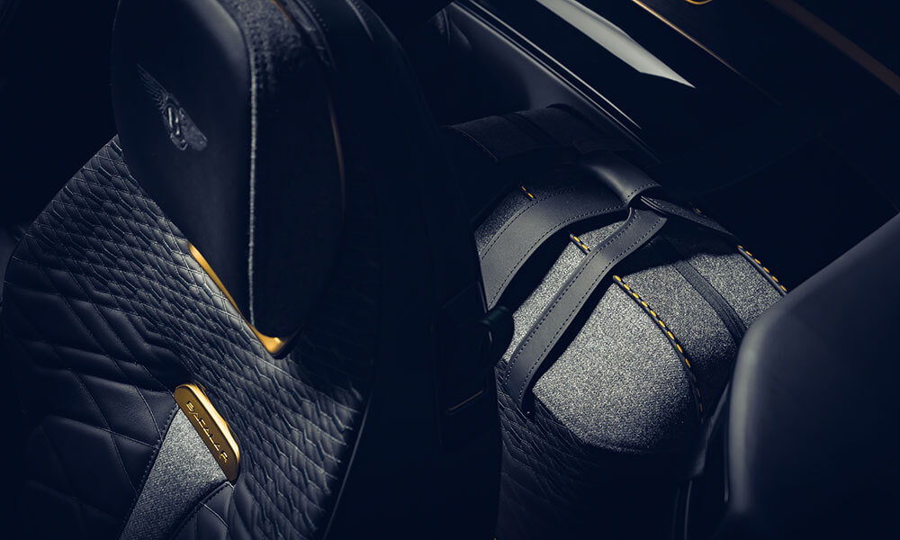 Bentley Mulliner Bacalar seats and luggage