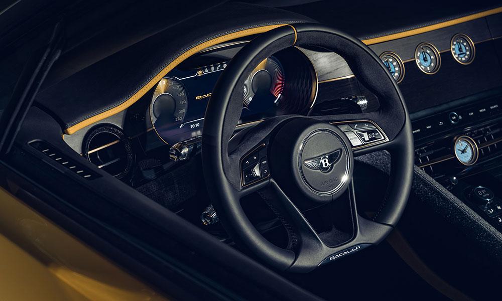 Bentley Mulliner Bacalar steering wheel instrument panel
