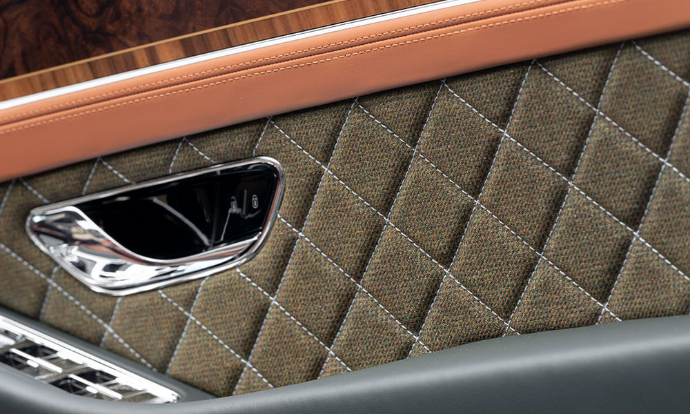 Bentley Mulliner Continental GT Convertible Equestrian Edition tweed door lining