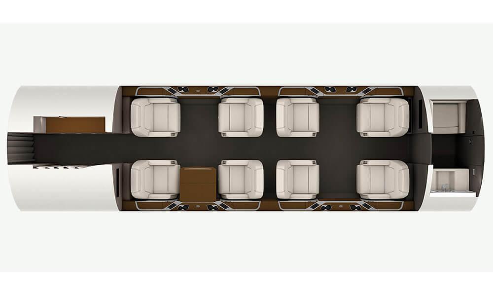 Bombardier Challenger 350 Standard Floor Plan Layout