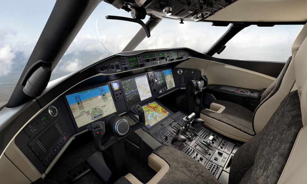 Bombardier Global 5500 flight deck cockpit
