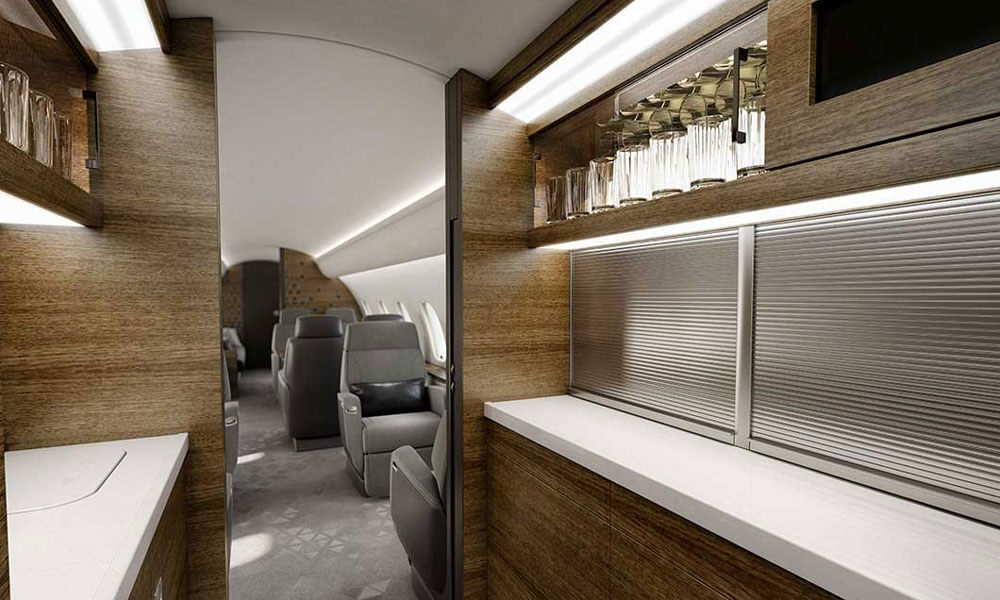 Bombardier Global 5500 kitchen