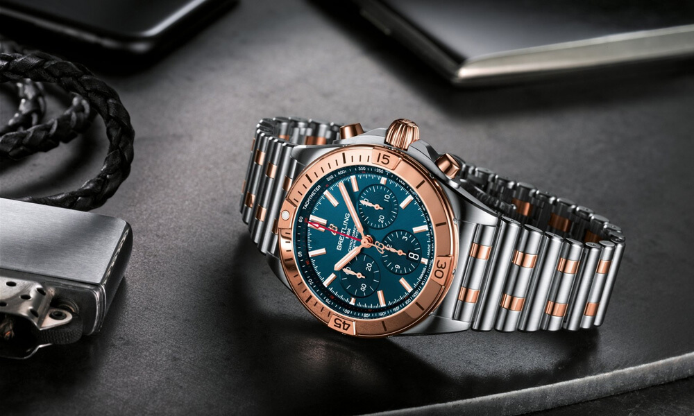 Breitling Chronomat B01 42 launched with Blue Dial & 18K Red Gold