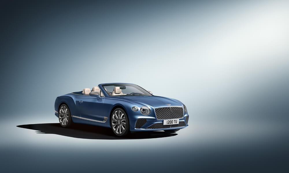 Bentley Continental GT Mulliner in Imperial Blue. Credit: Bentley Motors