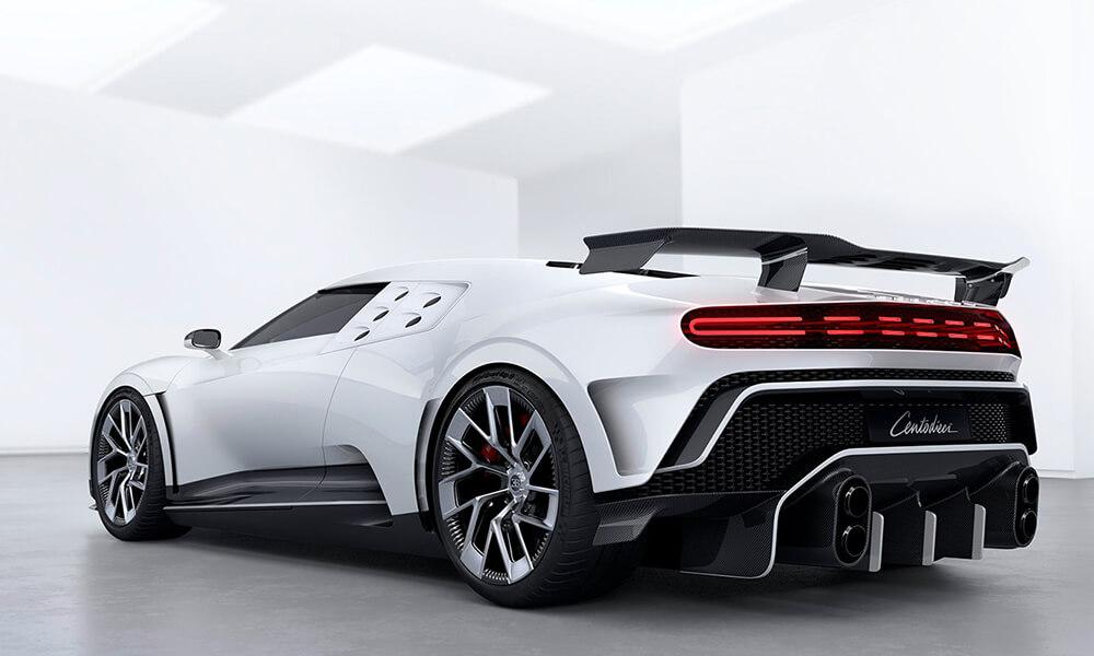 Bugatti Centodieci rear view with tailights