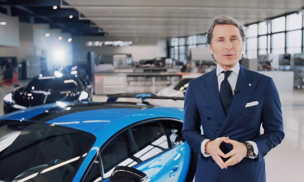 Bugatti President Stephan Winklemann at the Bugatti Atelier. Credit: Bugatti