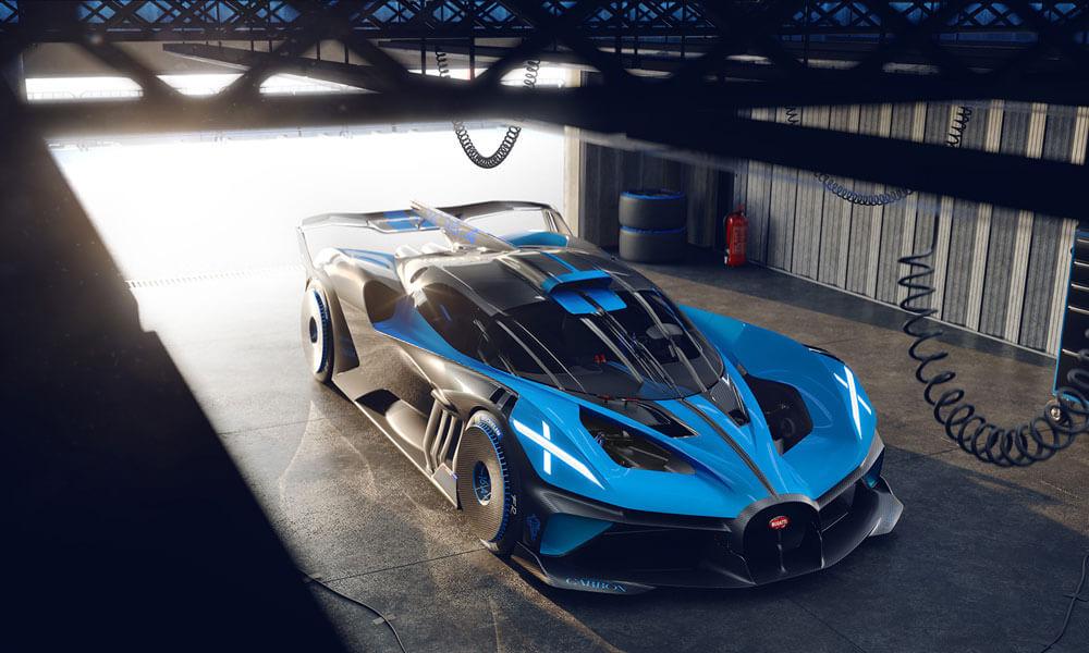 The Bugatti Bolide concept hyper sports car. Credit: Bugatti