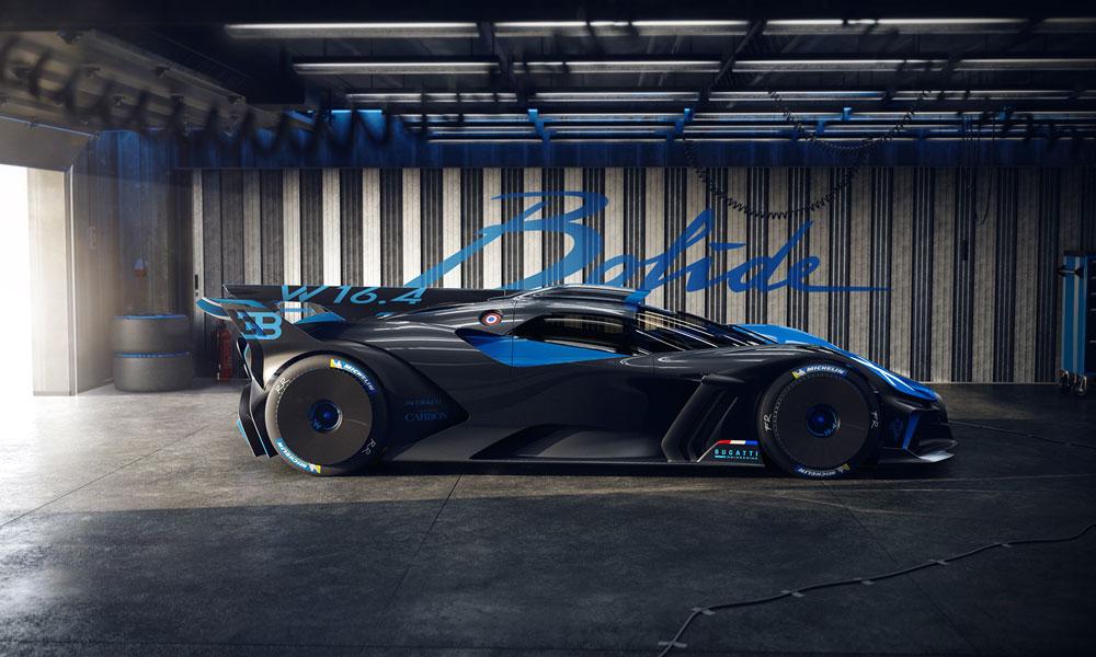 Bugatti Bolide Hypercar Garage Side View