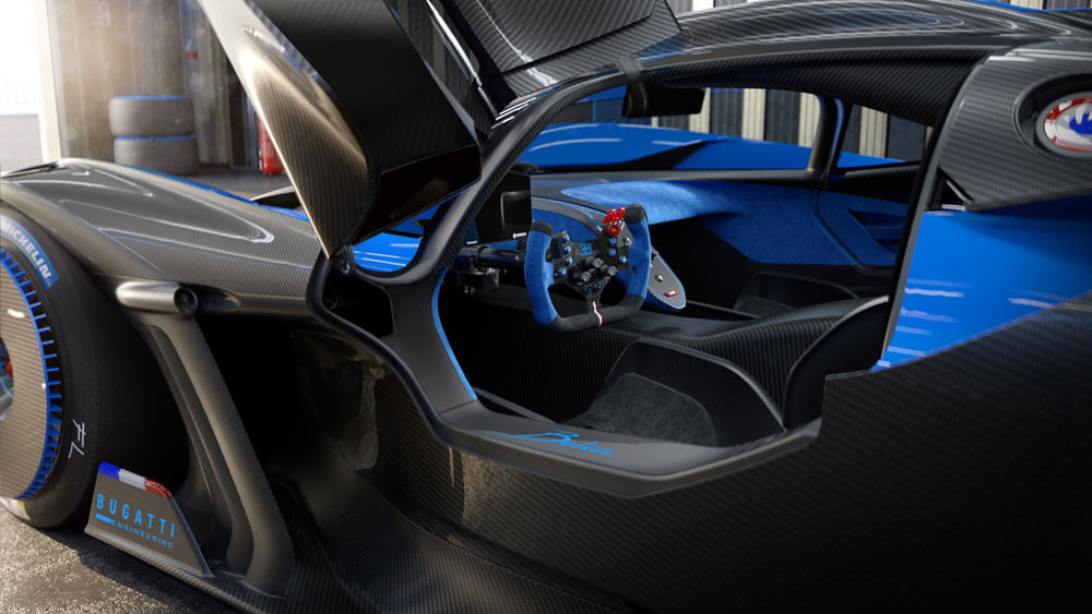 Exterior carbon components have increased to 60%. Credit: Bugatti