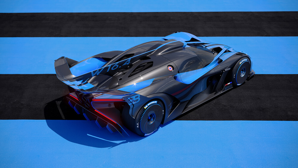 Bugatti's most extreme, lightweight vehicle concept in modern times. Credit: Bugatti