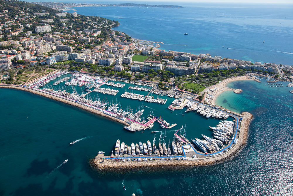 Cannes Yachting Festival Aerial View