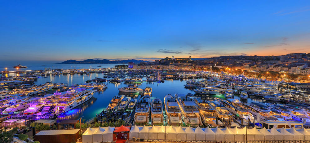 Cannes Yachting Festival Panorama Night View
