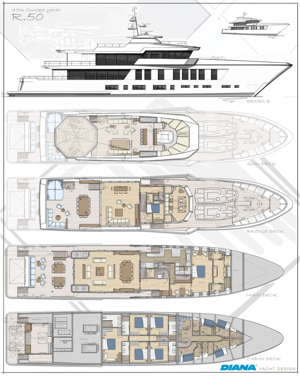 Diana Yacht Design R.50 Layout