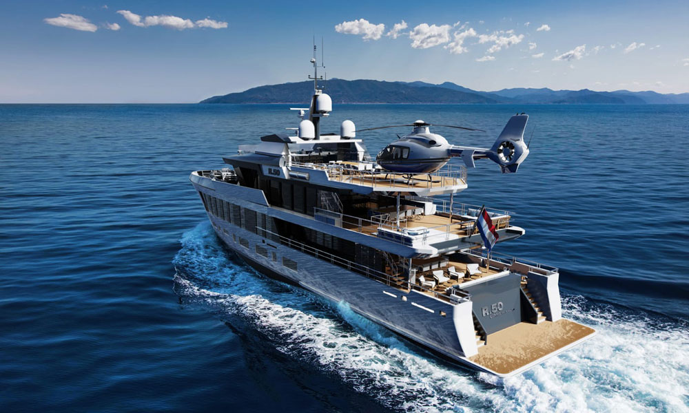 The new DIANA R.50 superyacht concept. Credit: Diana Yacht Design