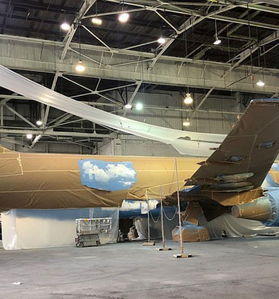 Drake's private jet livery design by Virgil Abloh