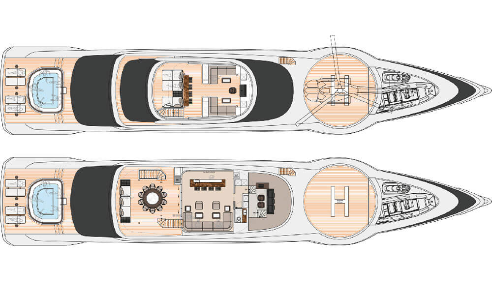 Dynamiq GTT 160 superyacht deck plans 1