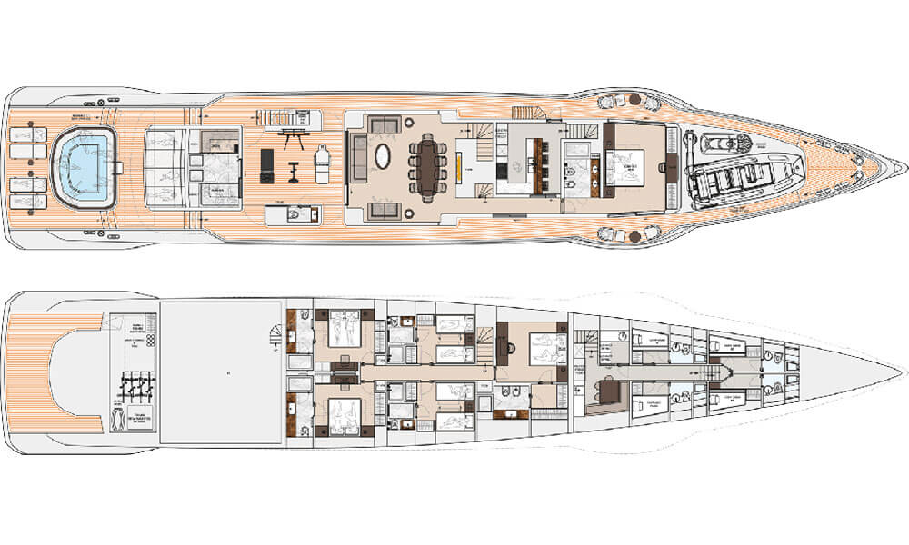 Dynamiq GTT 160 superyacht deck plans 2