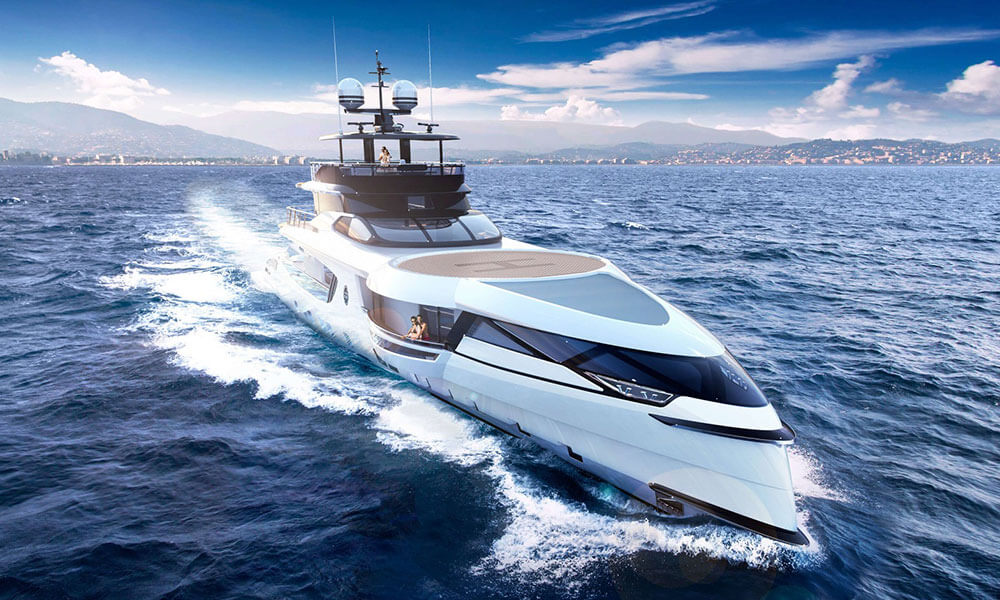 Dynamiq GTT 160 superyacht bow profile