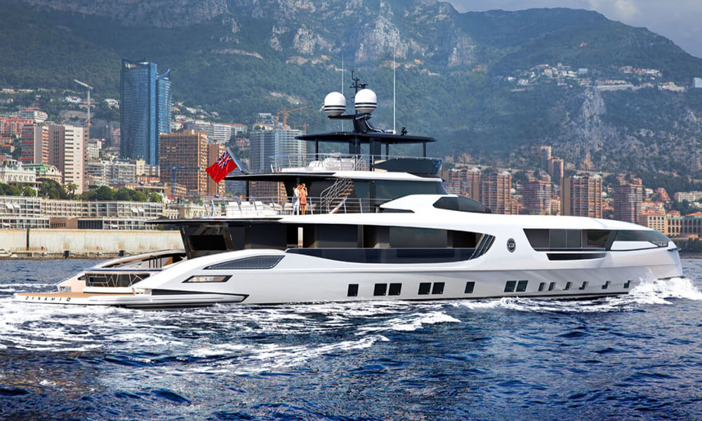 Dynamiq GTT 160 superyacht side profile