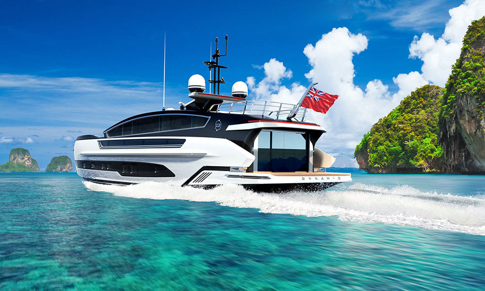 Dynamiq Yachts GTM 90 in collaboration with Klassen aft profile