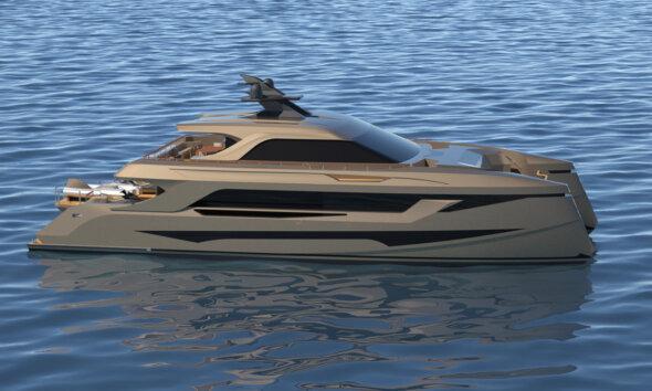 Echo Yachts SP30 Catamaran Misha Merzliakov Design Side View