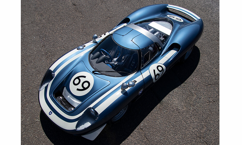 Ecurie Cars LM69 above front view
