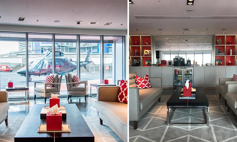 Edmiston London Heliport Lounge