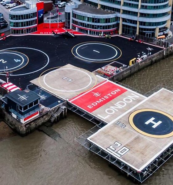 Edmiston London Heliport aerial view
