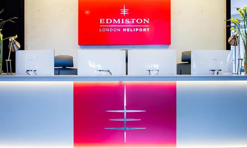 Edmiston London Heliport front desk