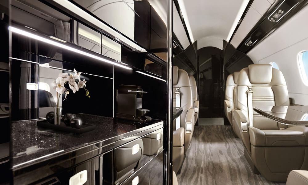 Embraer Praetor 500 galley kitchen