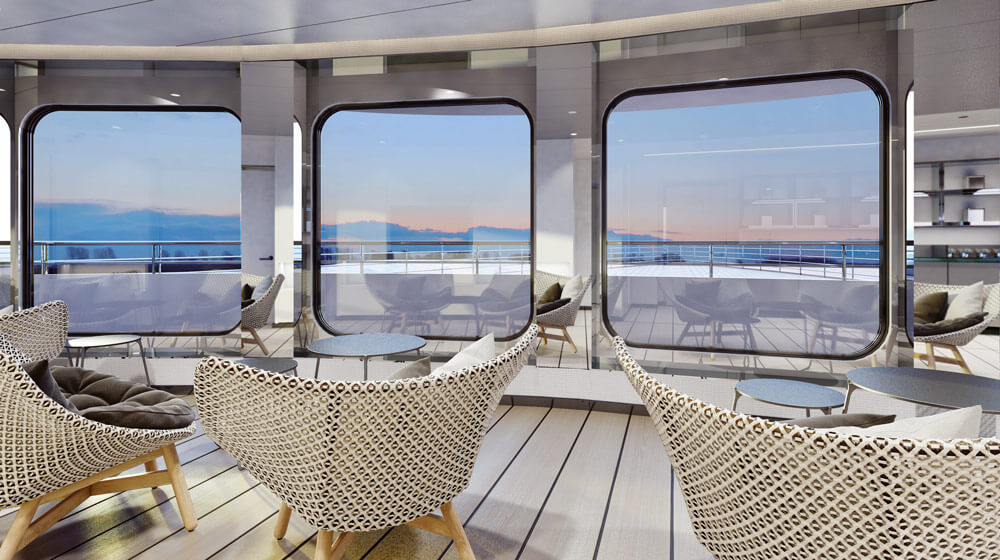 Emerald Yacht Cruises Superyacht Emerald Azzurra's Observation Lounge