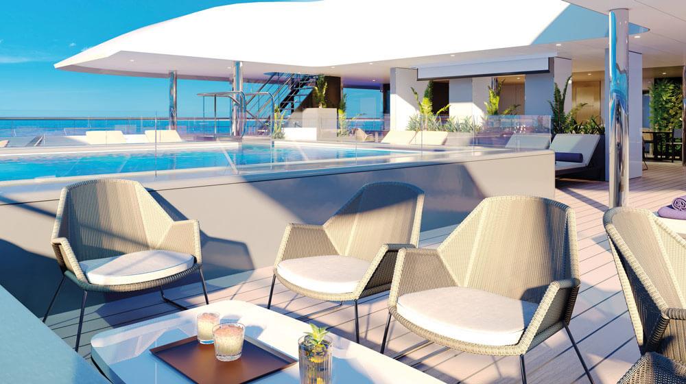 Emerald Yacht Cruises Superyacht Emerald Azzurra's Pool Deck Area