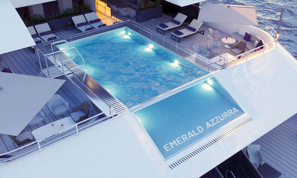 Emerald Yacht Cruises Superyacht Emerald Azzurra's Pool