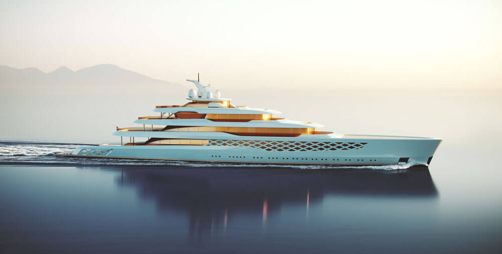 Feadship Project FG Freddie Gump Side View