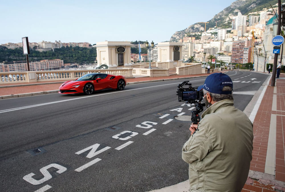 Filming of the Le Grand Rendez-Vous in Monaco with the Ferrari SF90 Stradale