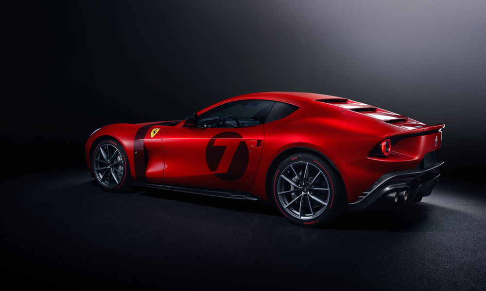Taking design cues from Ferrari GT racing cars of the 50's and 60's.