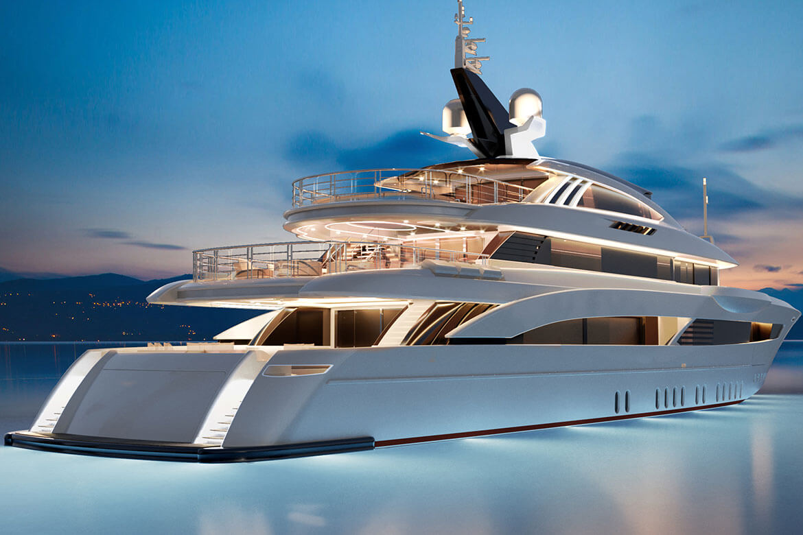 Rossinavi M/Y Florentia designed by Studio Vafiadis, Carlo Colombo and A++ Design Studio