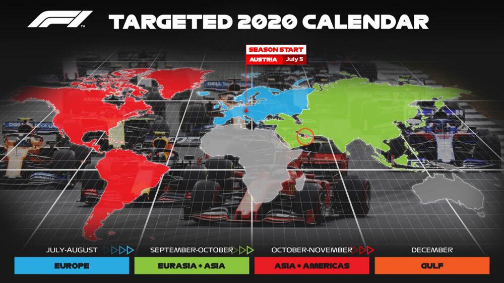 Formula 1 2020 Start Date