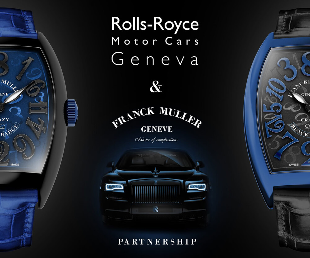 Franck Muller Rolls Royce Crazy Numbers Wraith Black Badge Partnership