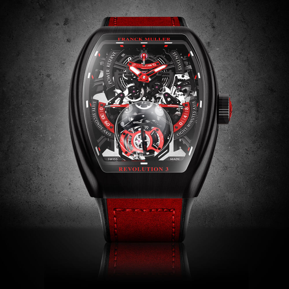 Franck Muller Vanguard Revolution 3 Skeleton Watch Front View