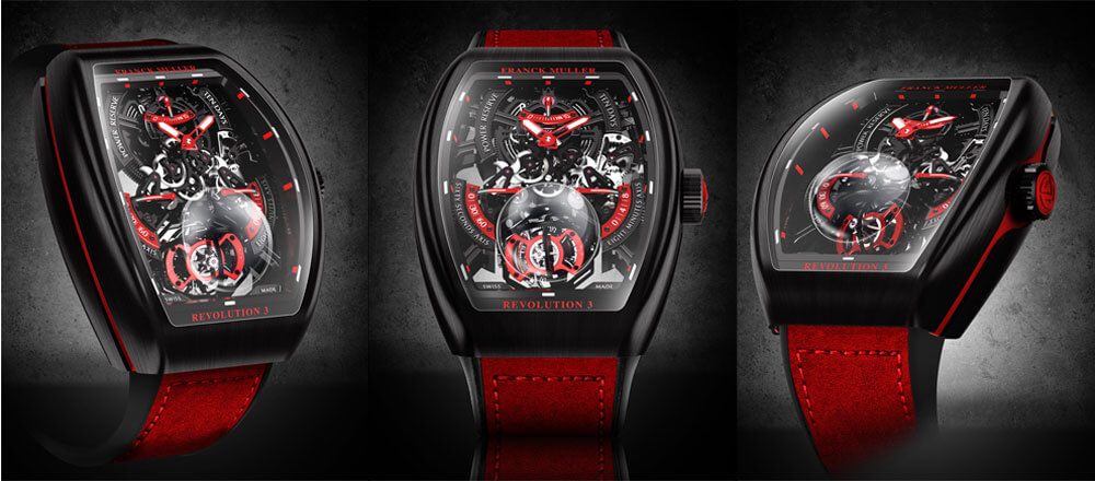 Franck Muller Vanguard Revolution 3 Skeleton Watch Trio