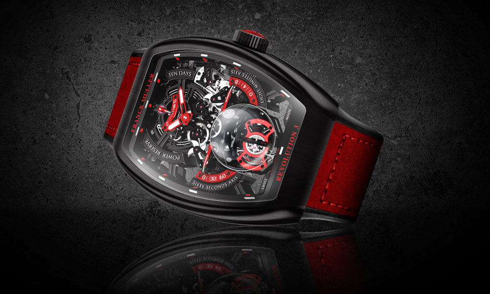 Franck Muller Vanguard Revolution 3 Skeleton Watch