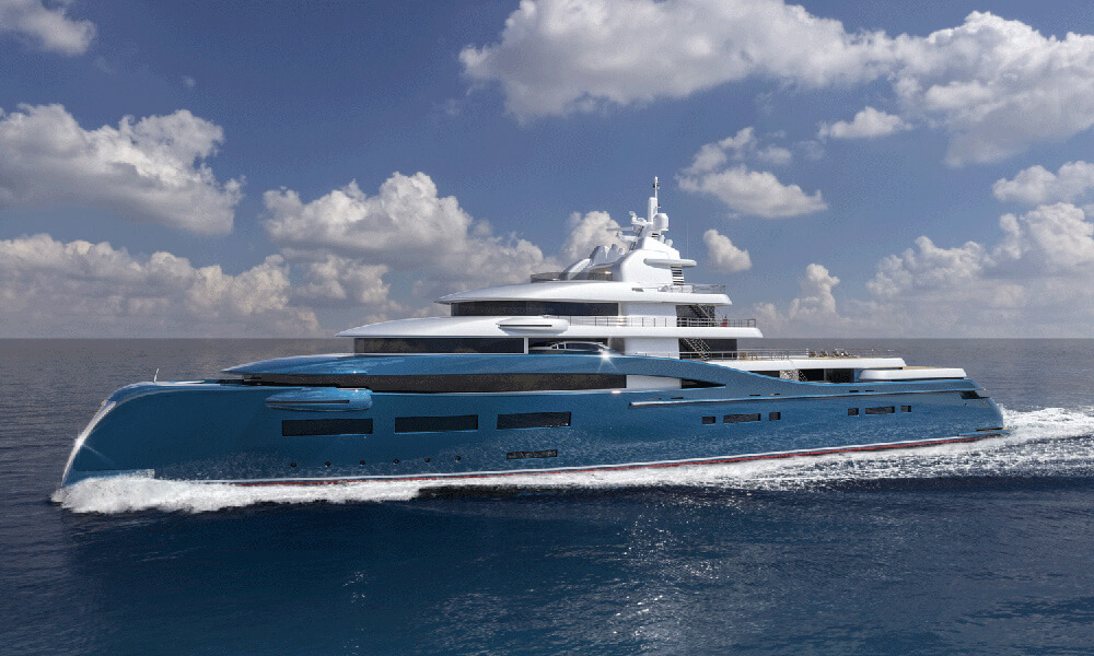 Frontier Exploration Yacht by Sorgiovanni Design - Side Profile