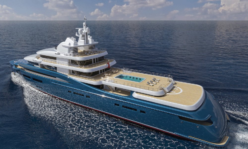 Frontier Explorer Yacht by Sorgiovanni Design with extandable helipad
