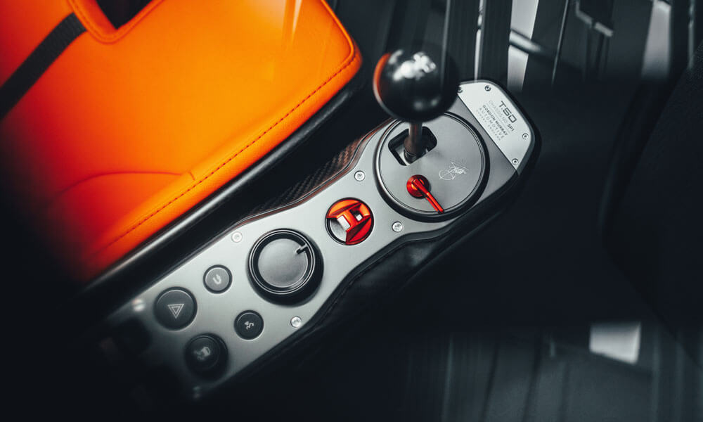 Gordon Murray T50 Gear Interior
