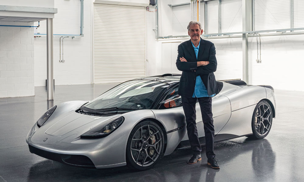 Gordon Murray with T50 supercar