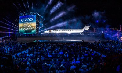 Picture from the Gulfstream G700 launch event
