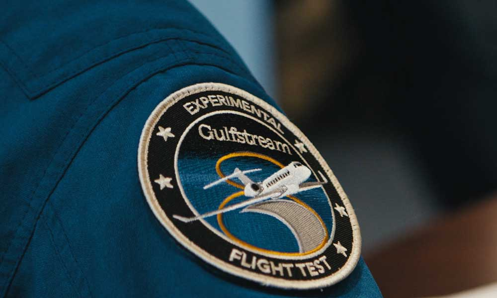 Gulfstream G700 experimental flight badge emblem